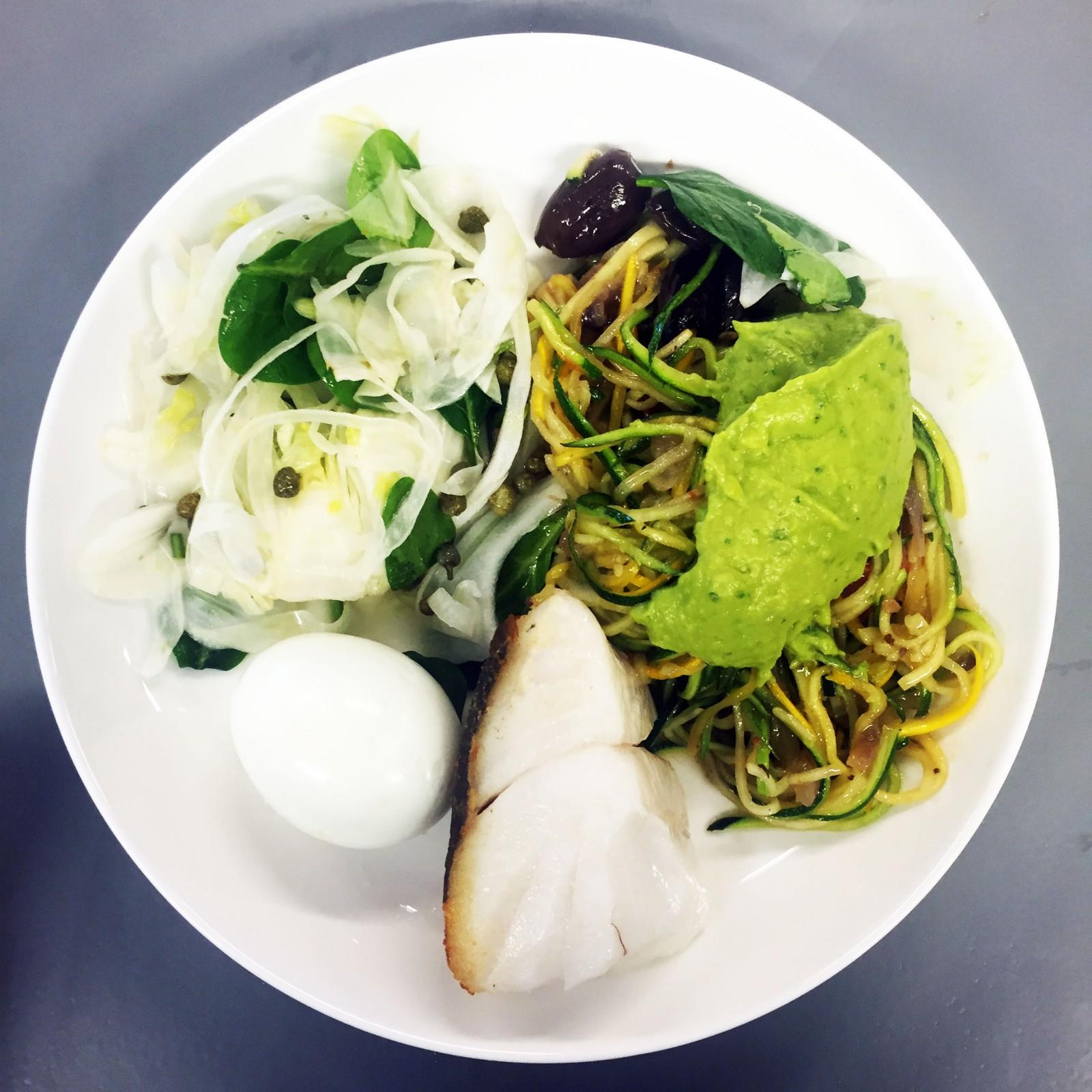 Zucchini with pesto