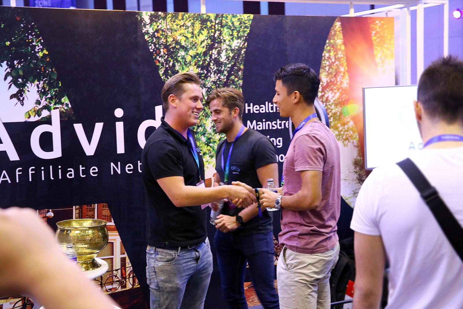 Stephan stepped forward for a congratulatory handshake upon winning