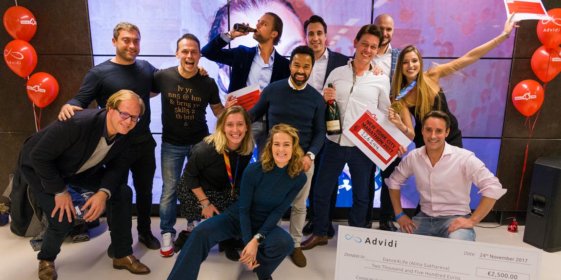 Dance4Life celebrates NYC Marathon success with Advidi