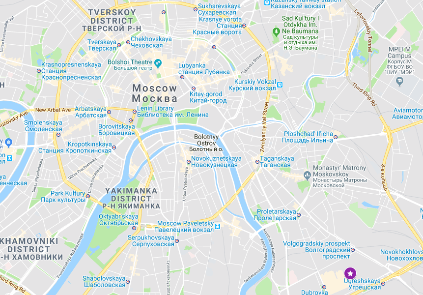 Google Maps Moscow