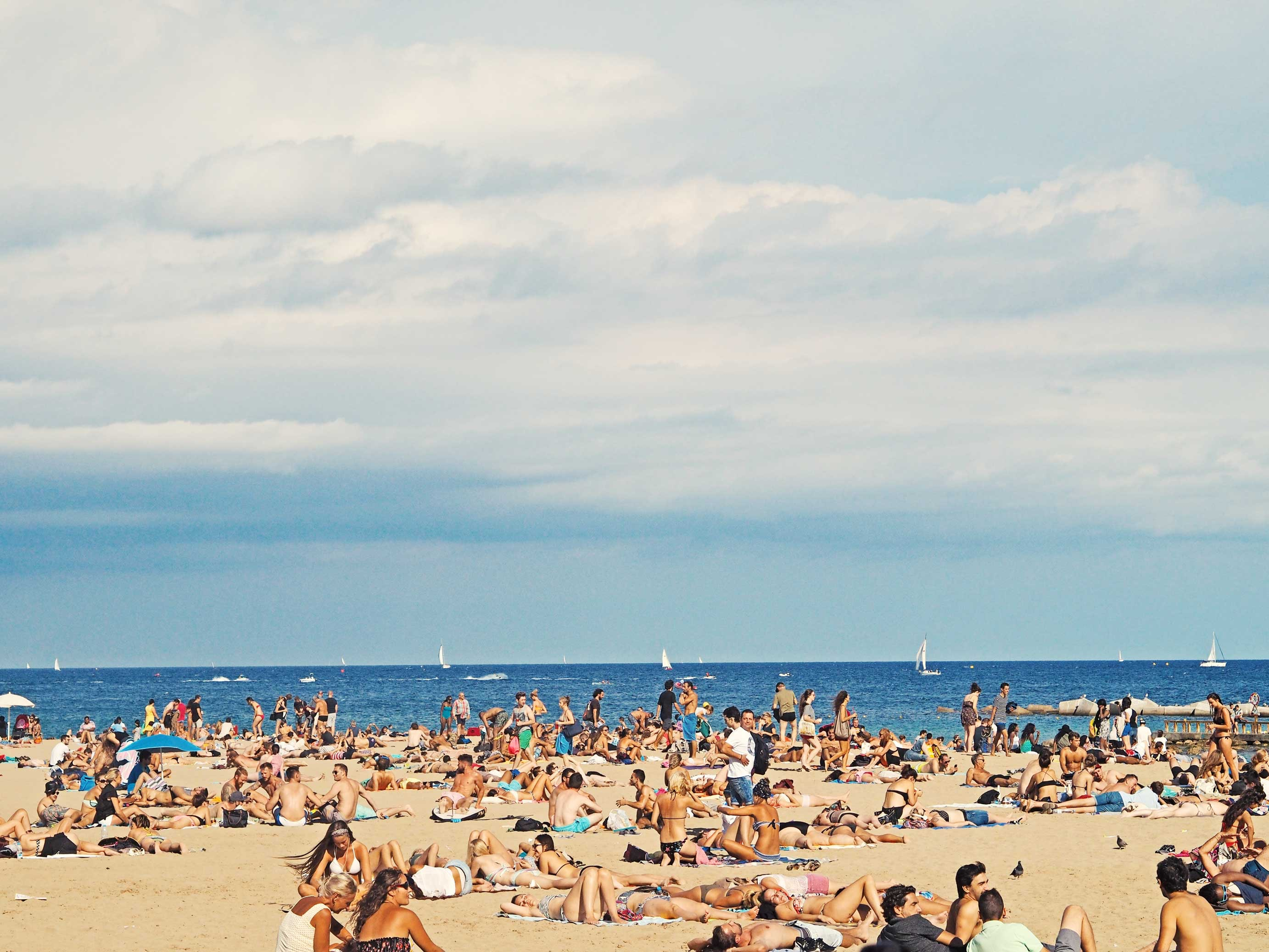 Great weather in Barcelona