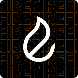 Fire icon in white